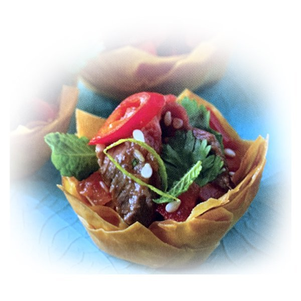 Asian Beef Filo Tartlets